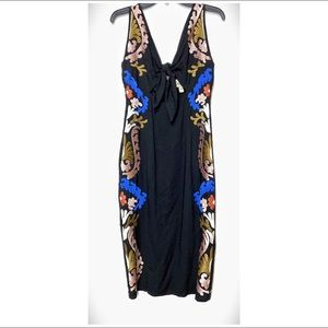 Cleobella Edenia Embroidered Midi Tied Front Dress